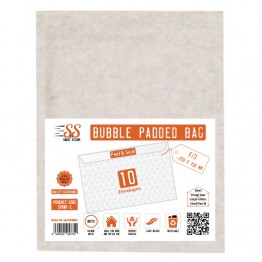 SnS White Bubble Padded Bags F/3, Pack of 10