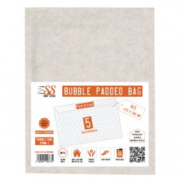 SnS White Bubble Padded Bags H/5, Pack of 5