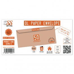 SnS DL Envelope Manila Pack of 50