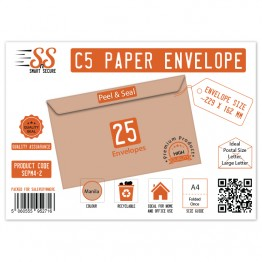 SnS A5/C5 Envelope Manila Pack of 25