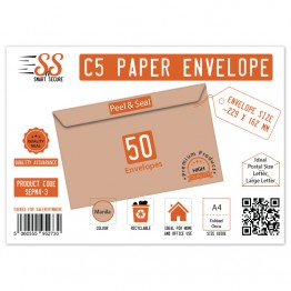 SnS A5/C5 Envelope Manila Pack of 50
