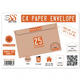 SnS A4/C4 Envelope Manila Pack of 25