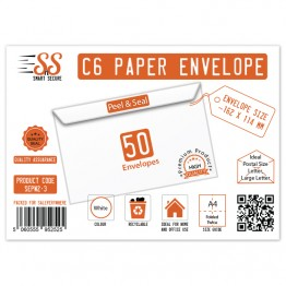 SnS A6/C6 Envelope White Pack of 50