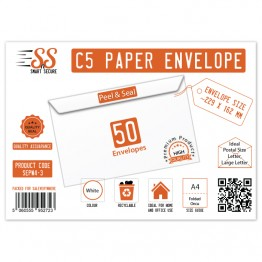 SnS A5/C5 Envelope White Pack of 50