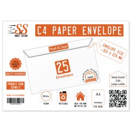 SnS A4/C4 Envelope White Pack of 25