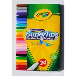 Crayola Bright Super Tip Washable Markers, Pack of 24