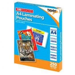 A4 Laminating 250 Micron, Pack of 100 Pouches