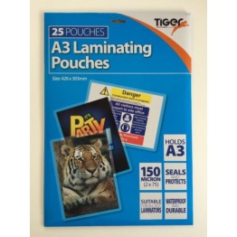 A4 Laminating 150 Micron, Pack of 25 Pouches