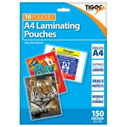 A4 Laminating 150 Micron, Pack of 10 Pouches