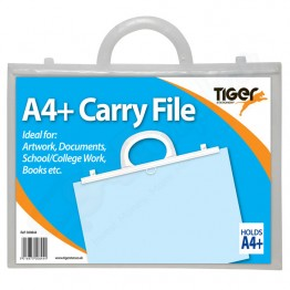 Tiger Carry File Clear with Handles A4+