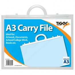 Tiger Carry File Clear with Handles A3