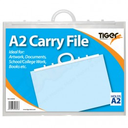 Tiger Carry File Clear with Handles A2