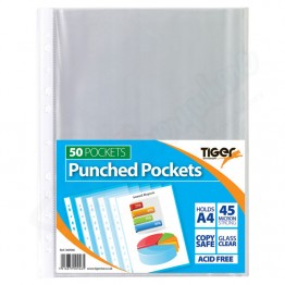 Punched Pockets, Pack of 50