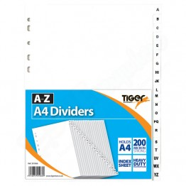 A-Z A4 Index Dividers