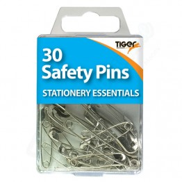 Tiger Essentials Safety Pins, Pack of 30