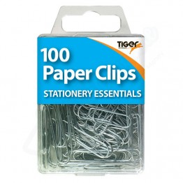 Tiger Essentials Steel Paper Clips, Pack of 100