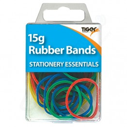 Tiger Essentials Colour Rubber Bands, Pack of 15g