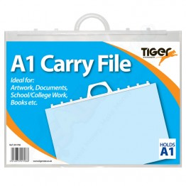 Tiger Carry File Clear with Handles A1