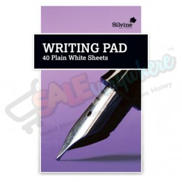 Silvine A5 Plain Writing Pad 40 Sheets