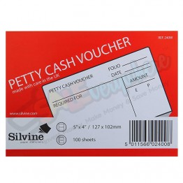 Silvine Petty Cash Voucher 127x100mm, 100 Leaves