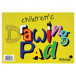 Silvine A4 Childrens Value Drawing Pad, 40 Pages