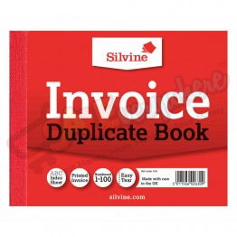 Silvine Invoice Duplicate Book with Carbon 102mm x 127mm, 1-100