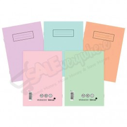 Silvine Exercise Book A5 Ruled Asst Colours, 80 Pages