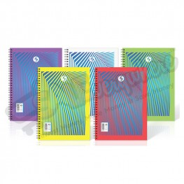 Silvine Twin Wire A4 Notebook Plastic Cover, 140 Pages