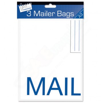 Mail Seal Poly Mailer Bags A3, Pack of 3