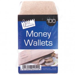 JS Manilla / Brown Envelopes Money Wallet, Pack of 80