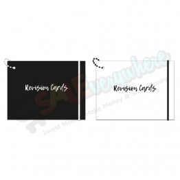 Monochrome Chic Revision Card with Chain and Elastic Closure Assorted Design, 75 Cards